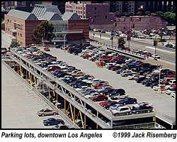 Parking lots, downtown Los Angeles